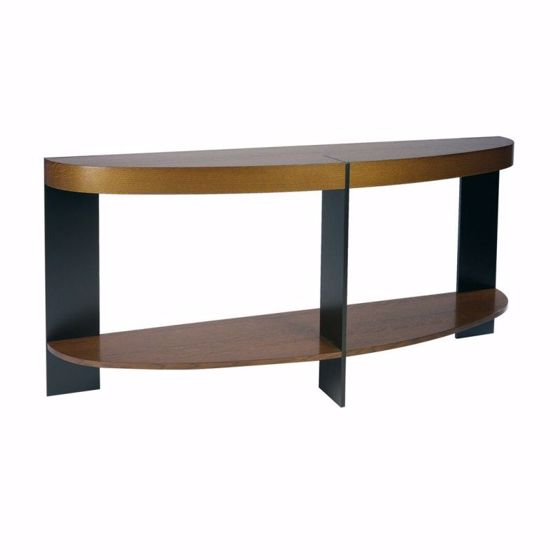 Picture of ST-91S DEMILUNE CONSOLE WITH SHELF