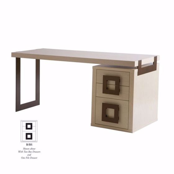 Picture of DK-128F DESK (ONE SMALL PEDESTAL, DESK TOP FULL LENGTH)