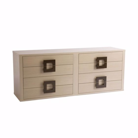 Picture of DR-129A DRESSER WITH 2 BANKS OF 4 DRAWERS