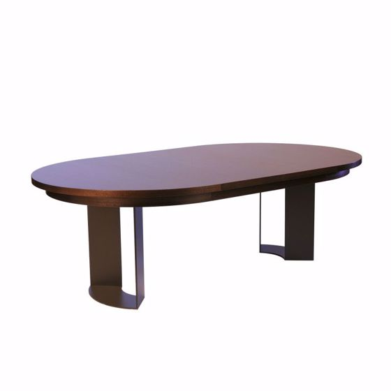 Picture of DT-86 RACETRACK DINING/CONFERENCE TABLE WITH RECESSED TABLE APRON