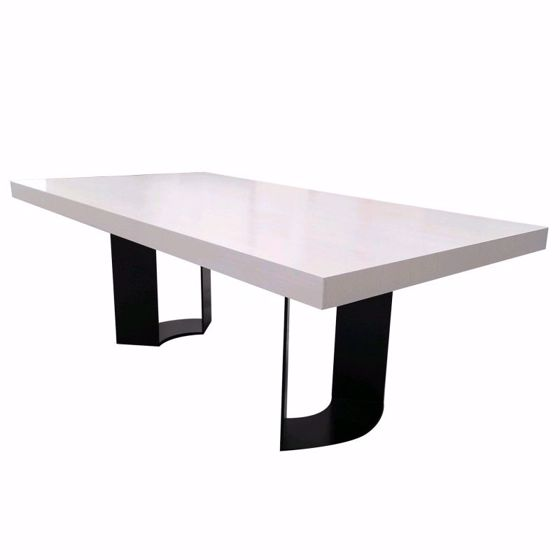 """Picture of DT-86E RECTANGULAR DINING/CONFERENCE TABLE WITH 4"""" APRON WITH EXTENSION AND ONE 18"""" LEAF"""